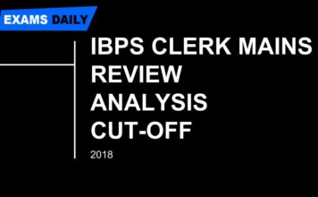 IBPS Clerk mains Exam Review & Analysis is written here