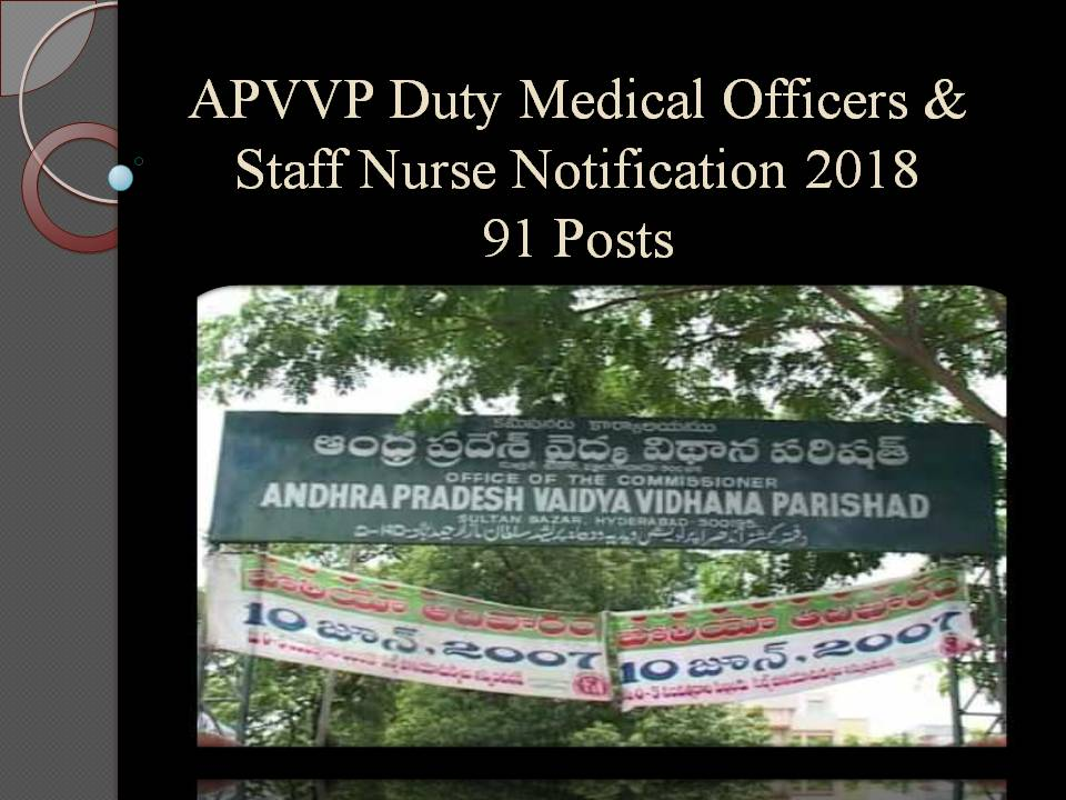 APVVP Duty Medical Officers & Specialist Doctors
