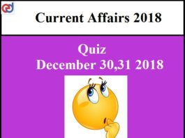 current affairs quiz questions and answers pdf 2018 | Exams