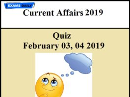 current affairs questions and answers 2019 | Exams Daily
