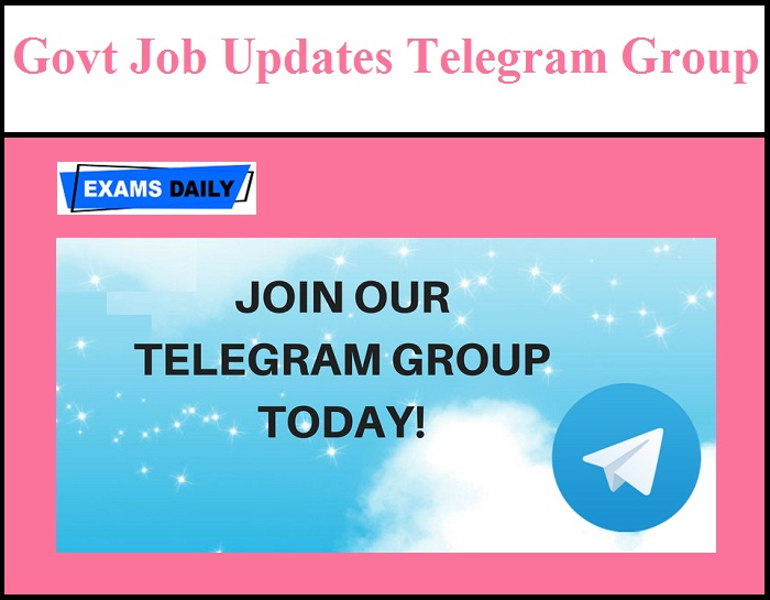 Latest Job Update Telegram Group & Channel - State Wise Telegram