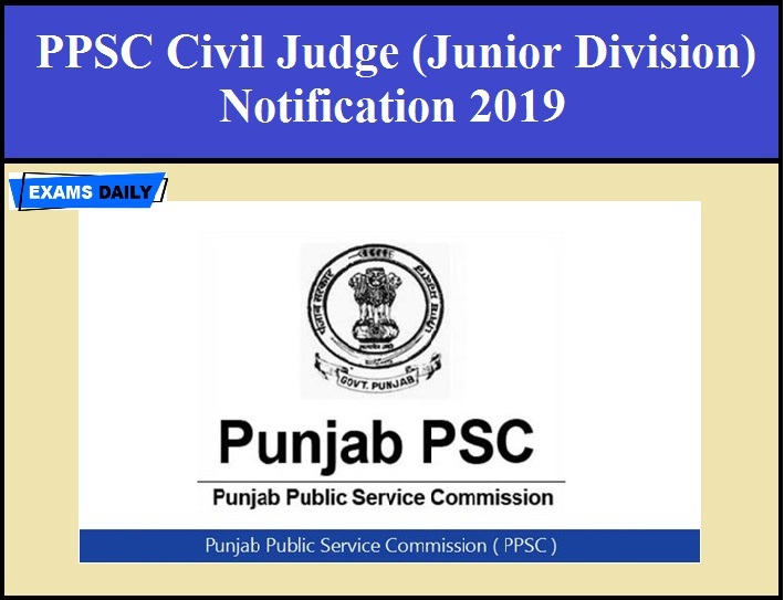 PPSC Civil Judge Recruitment 2019 - Apply Online   Exams Daily