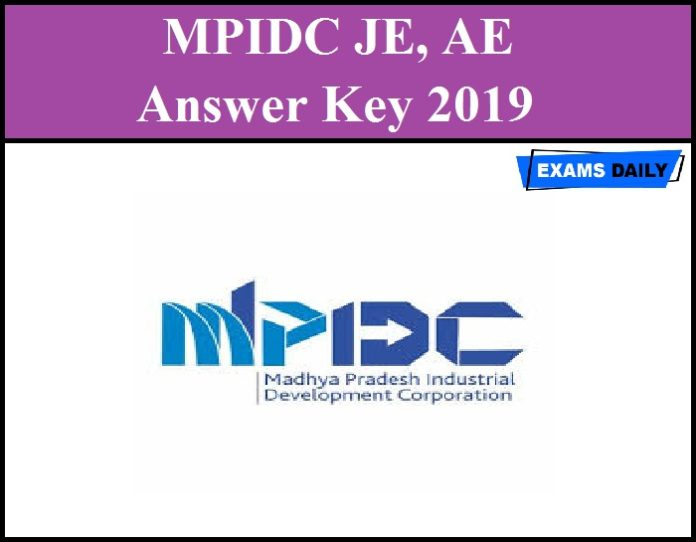 MPIDC JE, AE Answer Key 2019