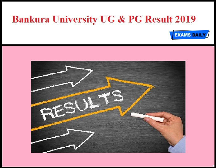 Bankura University UG & PG Result 2019