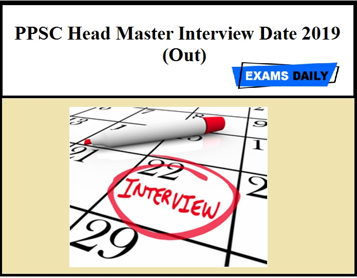 PPSC Head Master Interview Date (Out) – Download Call Letter