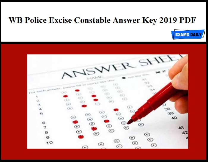 WB Police Excise Constable Answer Key 2019 PDF – Download