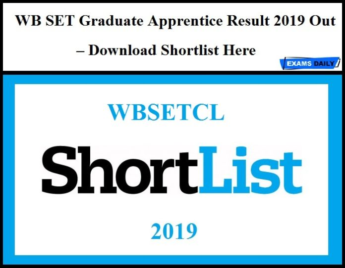 WBSETCL Graduate Apprentice Result 2019 Out – Download Shortlist Here