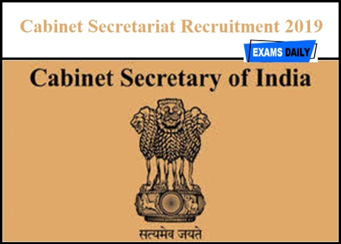 Cabinet Secretariat Recruitment 2019 Out – Download Notification PDF for Medical & Airlines