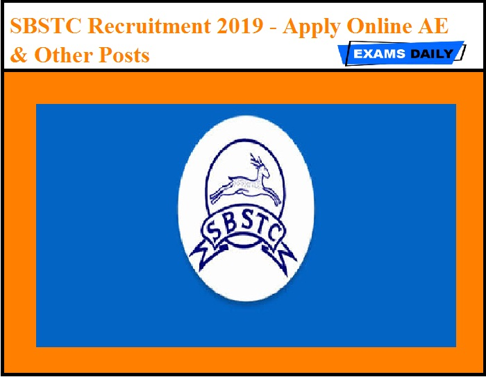 SBSTC Recruitment 2019 Out