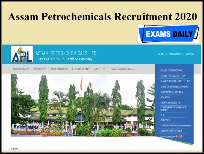 Assam Petrochemicals Recruitment 2020 Out | Apply Here