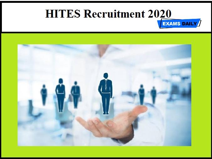 HITES Recruitment 2020 (Out)