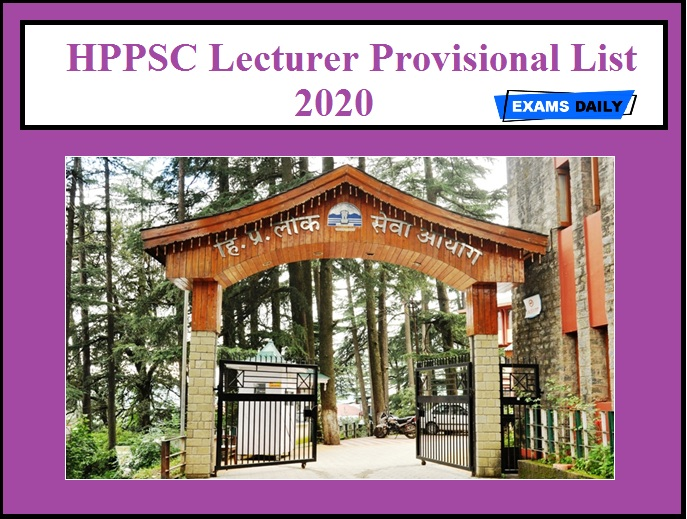 HPPSC Lecturer Provisional List 2020 OUT
