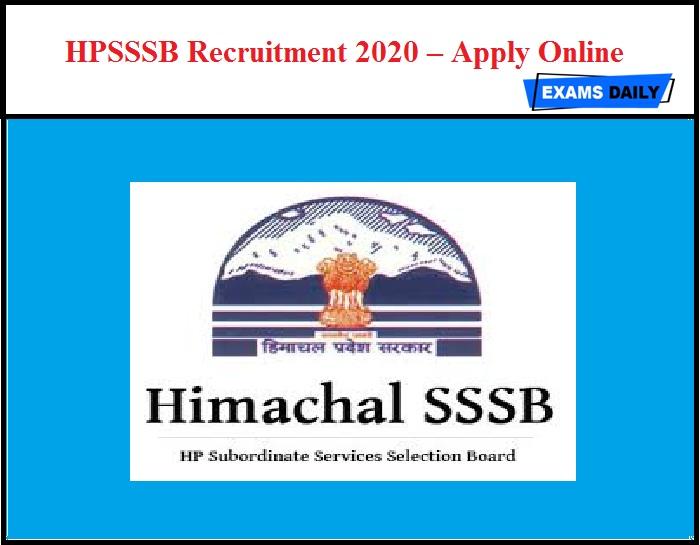 HPSSSB Recruitment 2020 OUT