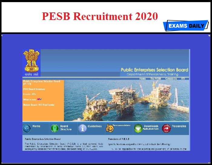 PESB Recruitment 2020 OUT