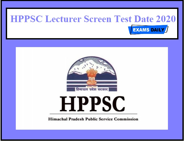 HPPSC Lecturer Screening Test Date 2020 OUT – Download Admit Card