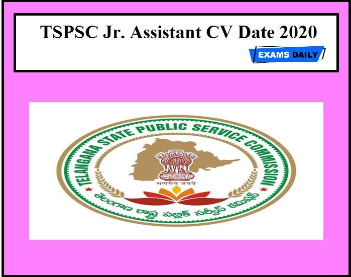TSPSC Jr. Assistant CV Date 2020 OUT – Download for Typist/ Jr. Steno
