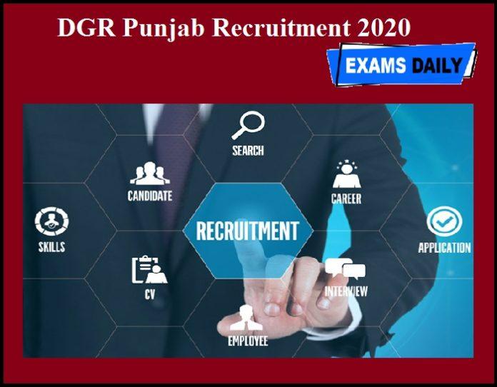 DGR Punjab Recruitment 2020 OUT