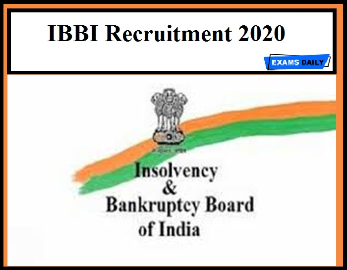 IBBI Recruitment 2020 (1)