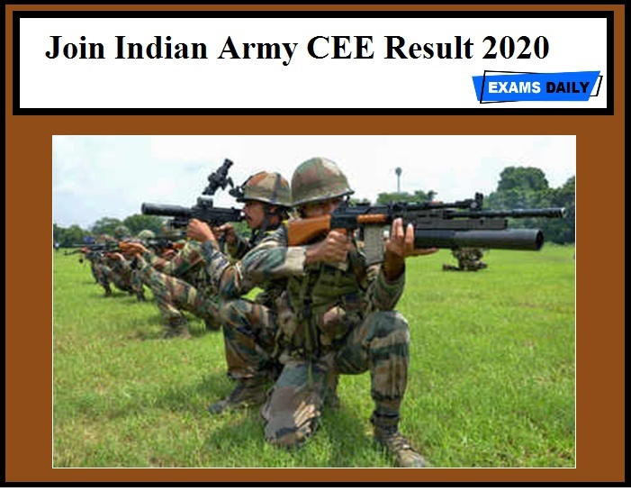 Indian Army CEE Result 2020 Out