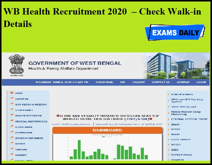 WB Health Recruitment 2020 OUT – Check Walk-in Details