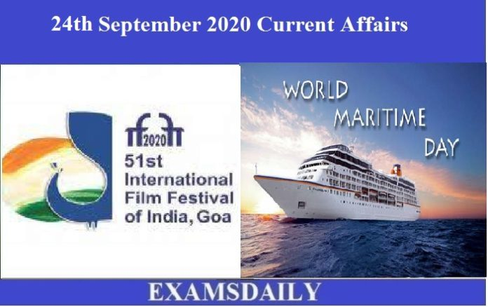 24th September 2020 Current Affairs