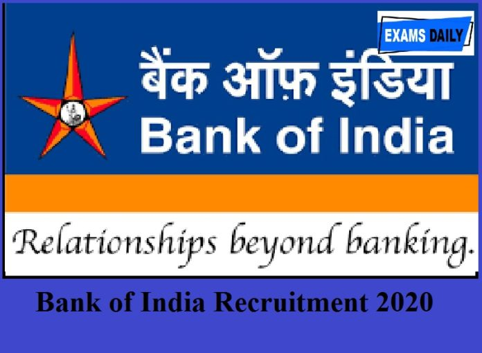 Bank of India Recruitment 2020 Out – Apply For Officer Posts