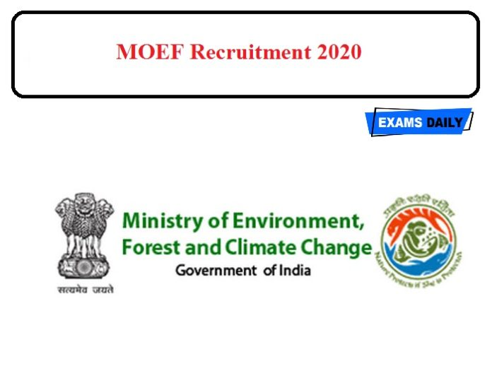 MOEF Notification 2020 – For Legal Associates post Apply Here!!!