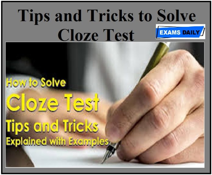 Tips and Tricks to Solve Cloze Test - Download PDF!!!