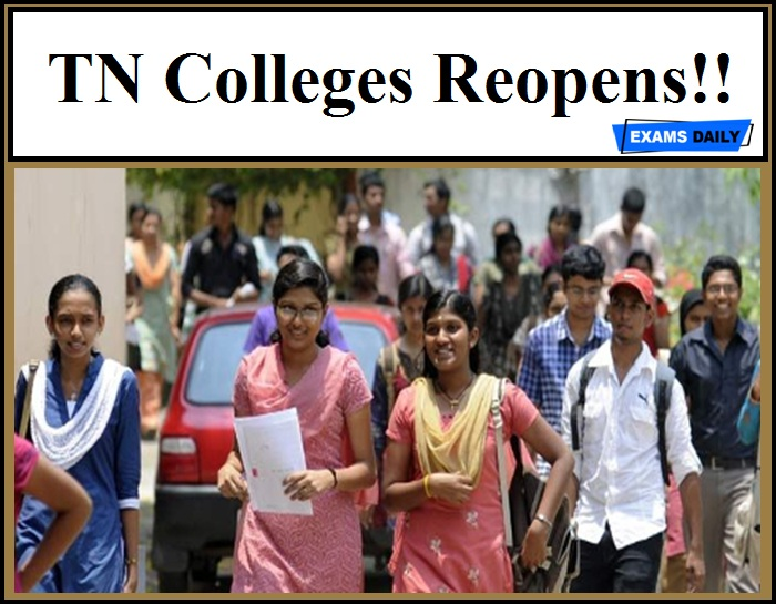 TN Colleges Reopens