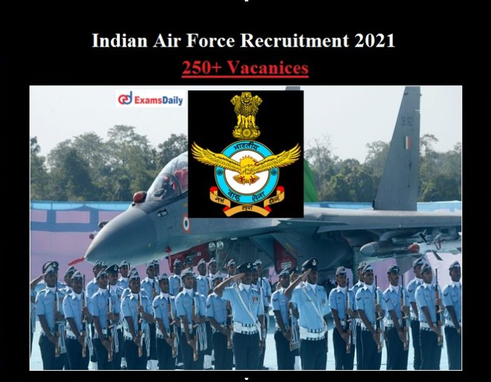 Indian Air force Recruitment 2021 OUT