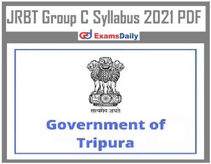 JRBT Group C Syllabus 2021 PDF – Download Exam Pattern for LDC & Other Vacancy!!!
