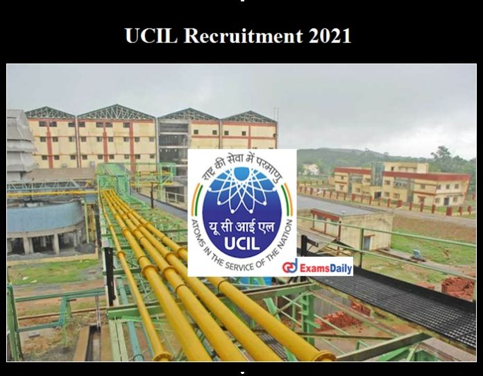 UCIL Recruitment 2021 OUT
