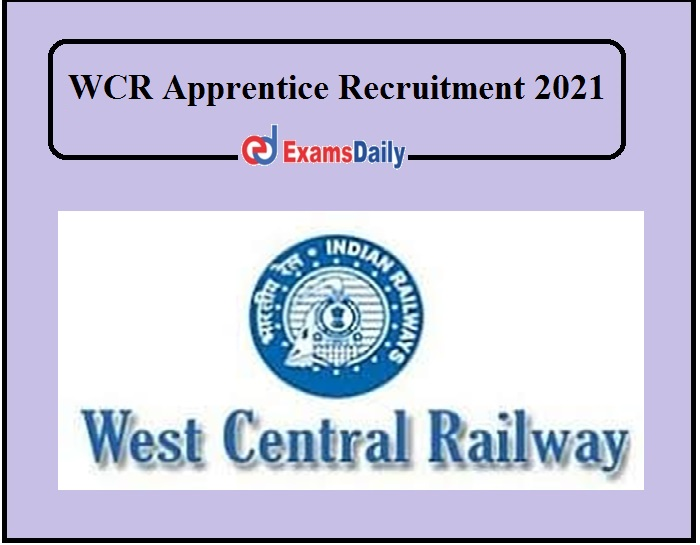 WCR Apprentice Recruitment 2021 Out