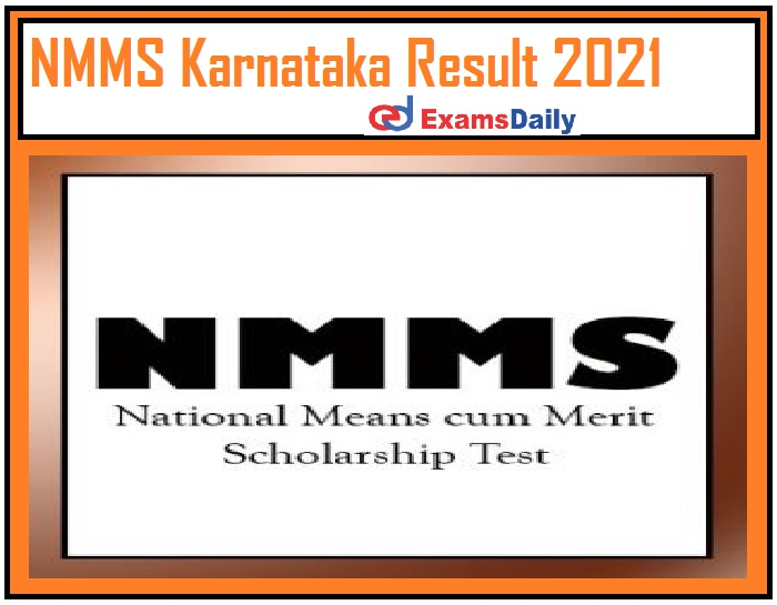 NMMS Karnataka Result 2021 Out – Check State Wise Scholarships & 8th Class Marks List Here!!!