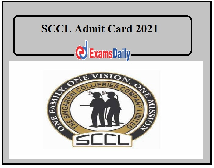 SCCL Admit Card 2021