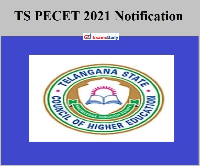 TS PECET 2021 Notification