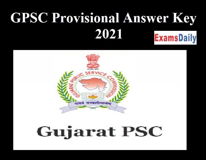 GPSC Provisional Answer Key 2021