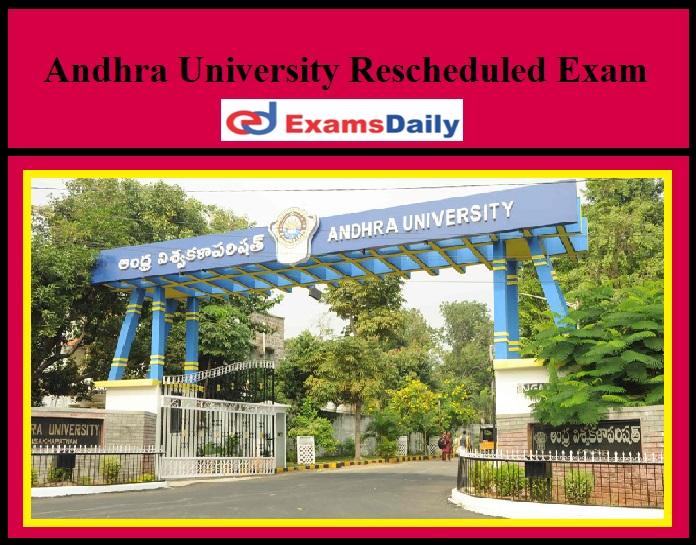 Andhra University Rescheduled LL.B And LL.M Examinations