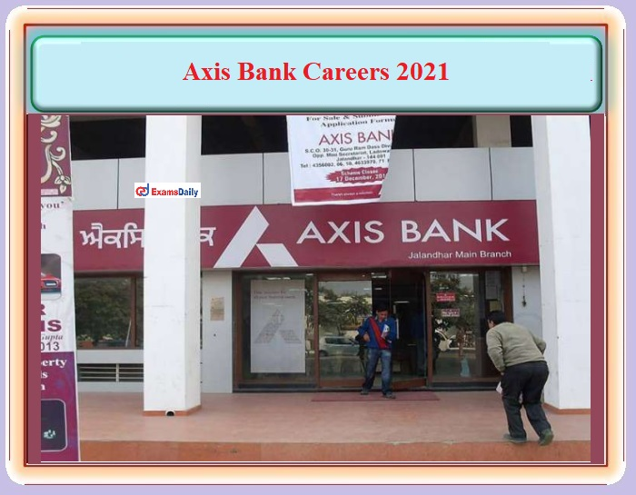 Branch Relationship Officer on AXIS Bank Recruitment 2021