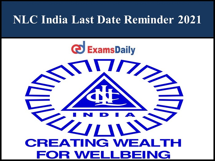 NLC India Nurse Application Date Expired Soon