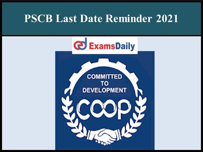 pscb last date