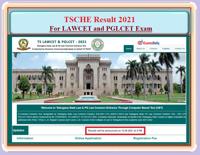 TS LAWCET and PGLCET Result 2021 – Download TSCHE Qualifying Marks Details Here!!!
